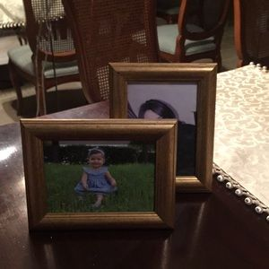 X2 gold picture Frame by Anthropologie